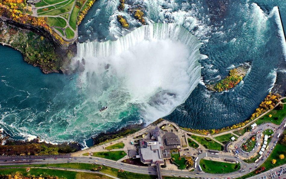 Ниагарский водопад фото сверху